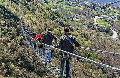 Ponte Tibetano Sasso di Castalda Matera